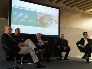 Marcus Willand, Patrick Breitenbach, Prof. Dr. Ronny Fürst, Prof. Dr. Torsten Bügner und Daniel Boese diskutierten über die Kompetenzen der Digital Leader.