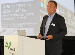 Gab spannende Einblicke in seine Arbeitswelt: Markus Köhler, Personalchef von Microsoft Deutschland.